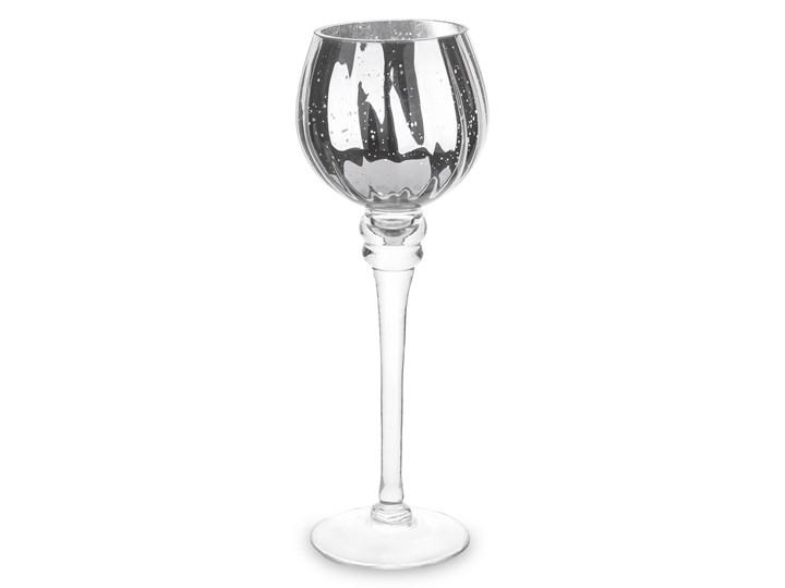 Srebrny świecznik - kielich Sefir 30 cm Kolor Szary