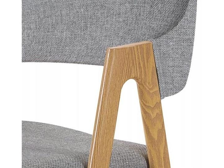 Krzesło K344 Popiel Halmar Metal Szerokość 53 cm Drewno Wysokość 80 cm Tapicerowane Płyta MDF Stal Z podłokietnikiem Głębokość 57 cm Tkanina Szerokość 48 cm Styl Klasyczny