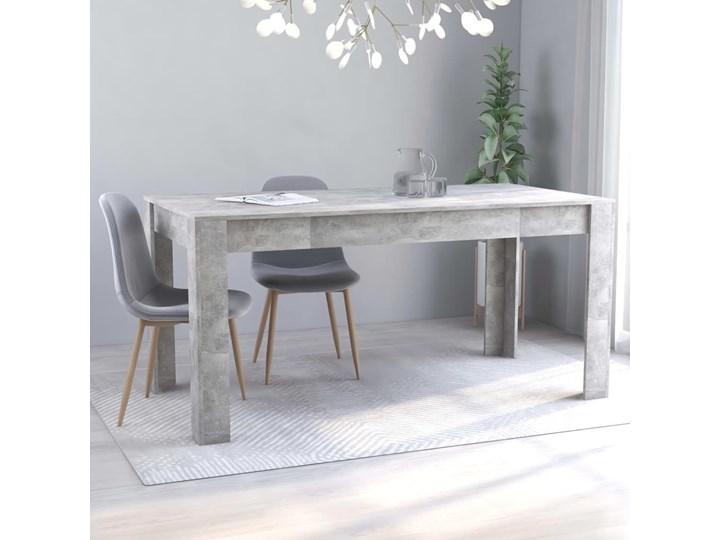 VidaXL Stół jadalniany, betonowy szary, 160x80x76 cm, płyta wiórowa Szerokość 80 cm Długość 160 cm  Pomieszczenie Stoły do jadalni