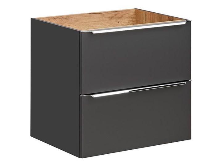 Podwieszana szafka łazienkowa pod umywalkę - Malta 3X Czarny mat 60 cm Wiszące Wysokość 57 cm Kategoria Szafki stojące Szafki Kolor Szary