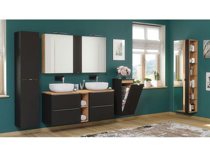 Podwieszana szafka łazienkowa pod umywalkę - Malta 3X Czarny mat 60 cm Wysokość 57 cm Szafki Wiszące Kolor Szary