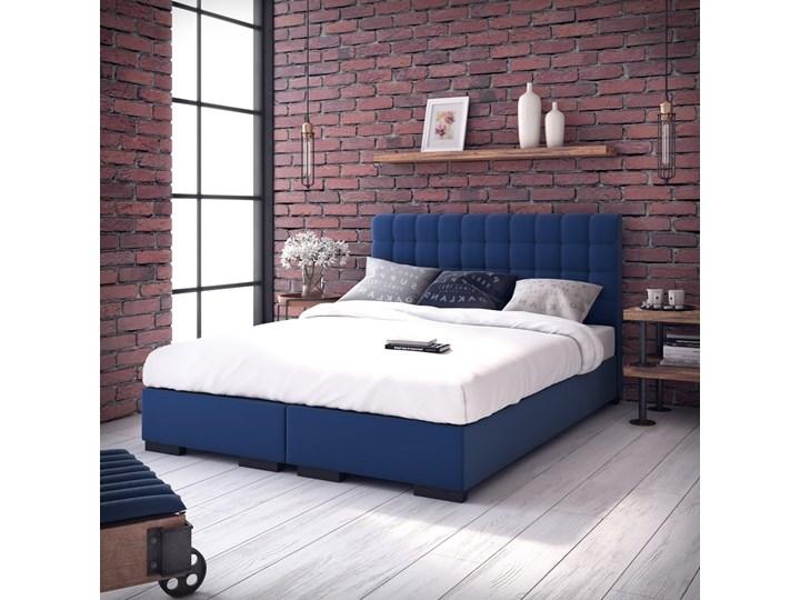 Łóżko Bravo kontynentalne Grupa 1 140x200 cm Tak Łóżko tapicerowane Rozmiar materaca 200x200 cm Kolor Granatowy