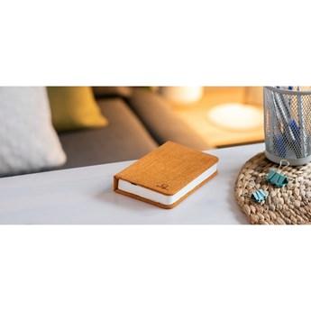 Pomarańczowa lampka stołowa LED w kształcie książki Gingko Booklight