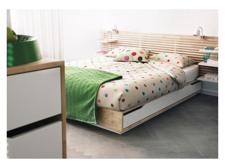 MANDAL Rama łóżka z szufladami Kolor Beżowy Łóżko drewniane Kategoria Łóżka do sypialni