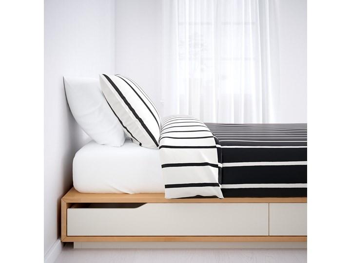 MANDAL Rama łóżka z szufladami Łóżko drewniane Kolor Biały Kategoria Łóżka do sypialni