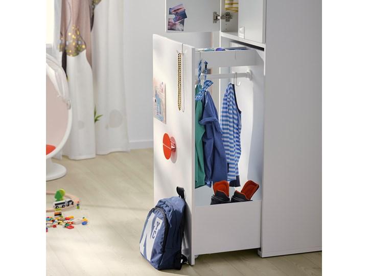 IKEA SMÅSTAD Szafa z elementem wysuwanym, biały, 80x57x108 cm Rodzaj frontów Mat Szerokość 80 cm Płyta laminowana Głębokość 57 cm Rodzaj drzwi Uchylne