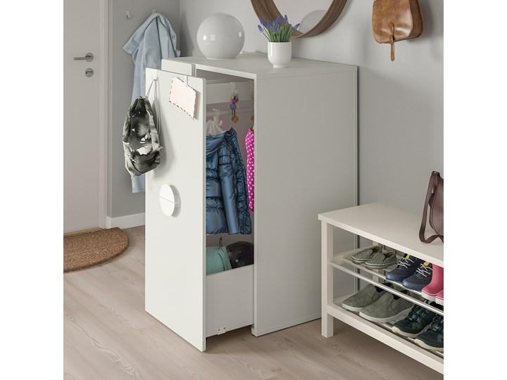 IKEA SMÅSTAD Szafa z elementem wysuwanym, biały, 80x57x108 cm Szerokość 80 cm Płyta laminowana Głębokość 57 cm Lustro
