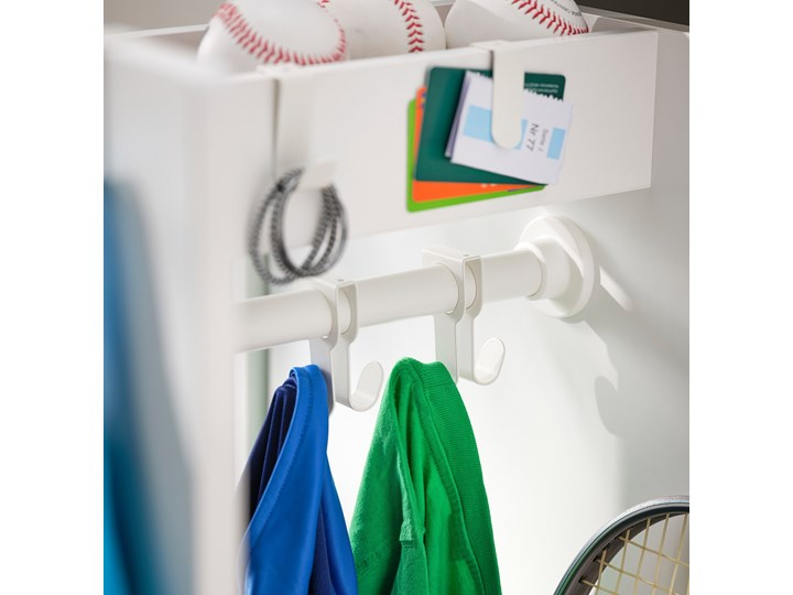 IKEA SMÅSTAD Szafa z elementem wysuwanym, biały, 80x57x108 cm Płyta laminowana Szerokość 80 cm Rodzaj frontów Mat Głębokość 57 cm Ilość drzwi Dwudrzwiowe