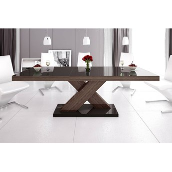 Stół rozkładany XENON 160-208 Brąz-dąb faro połysk - Meb24.pl