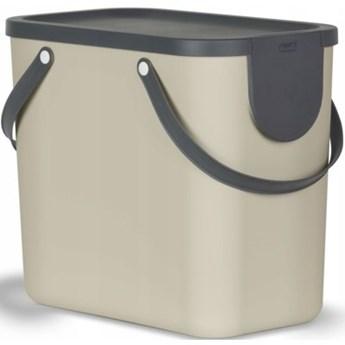 Kosz na śmieci ROTHO 1024907422 Albula 25L Cappuccino