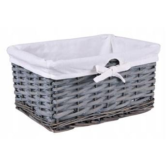 Koszyk wiklinowy 30x20x15 cm szary