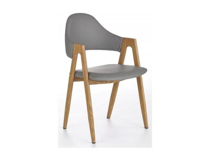 Krzesło K247 Popiel Halmar Drewno Stal Szerokość 53 cm Z podłokietnikiem Głębokość 57 cm Płyta MDF Wysokość 80 cm Skóra ekologiczna Szerokość 48 cm Skóra Styl Klasyczny Metal Tkanina Pomieszczenie Salon