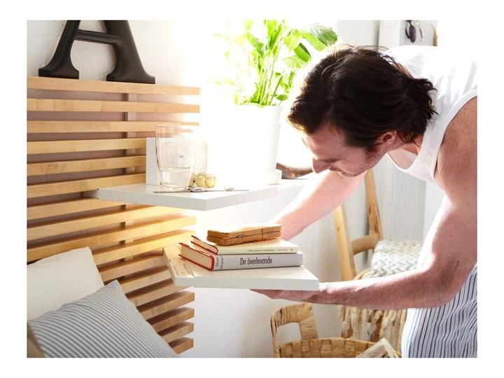 MANDAL Rama łóżka, zagłówek Kolor Beżowy Łóżko drewniane Kategoria Łóżka do sypialni
