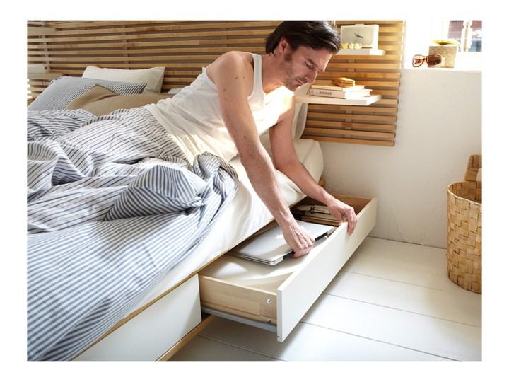 MANDAL Rama łóżka, zagłówek Łóżko drewniane Kolor Beżowy