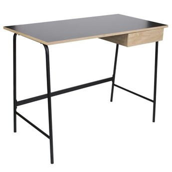 Proste biurko w stylu loft z szufladą Stanford