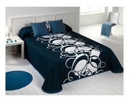 Ekskluzywna narzuta hiszpańska Omega 4 Azul 220x240 + 2x poszewka na poduszkę