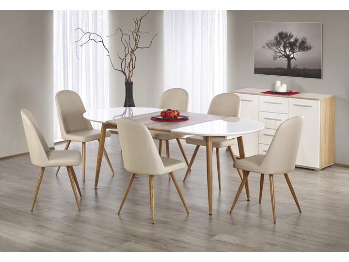 Rozkładany stół do salonu Edward dąb miodowy Długość 200 cm  Długość 100 cm Stal Drewno Płyta MDF Długość 120 cm  Szerokość 100 cm Rozkładanie