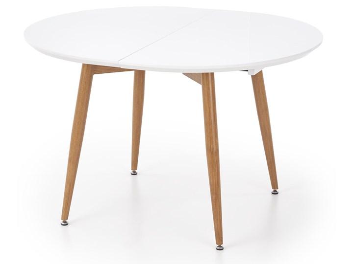 Rozkładany stół do salonu Edward dąb miodowy Długość 200 cm  Szerokość 100 cm Długość 120 cm  Długość 100 cm Drewno Płyta MDF Stal Pomieszczenie Stoły do jadalni