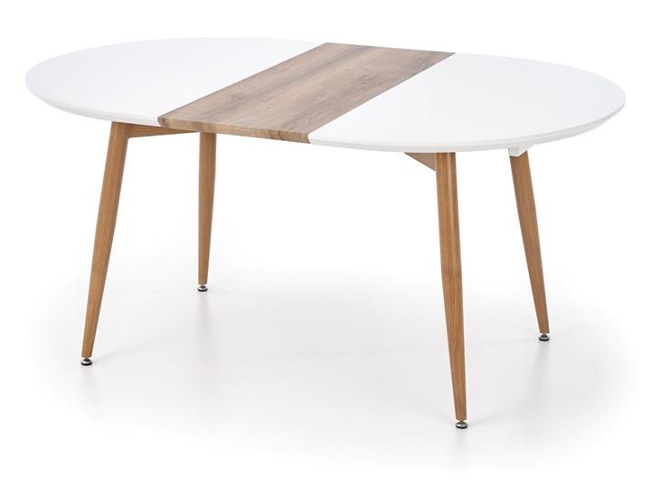 Rozkładany stół do salonu Edward dąb miodowy Długość 120 cm  Stal Płyta MDF Szerokość 100 cm Długość 200 cm  Długość 100 cm Drewno Pomieszczenie Stoły do salonu