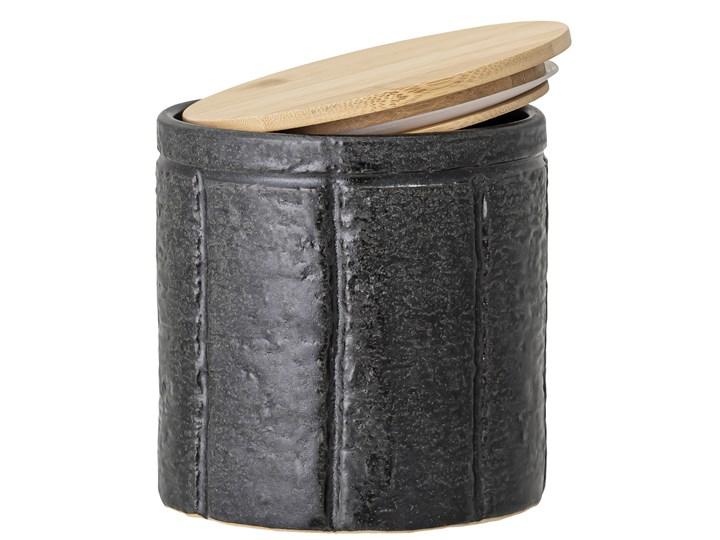 Pojemnik z pokrywką Cliff 600 ml czarny Ceramika Drewno Żaroodporny Typ Pojemniki