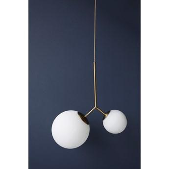 Lampa wisząca Twice 47x70 cm biało-złota