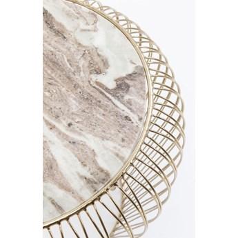 Stolik kawowy Beam Grey Marble Ø43 cm szary