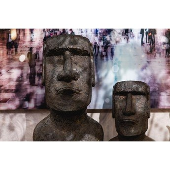 Figurka dekoracyjna Easter Island 59 cm szara