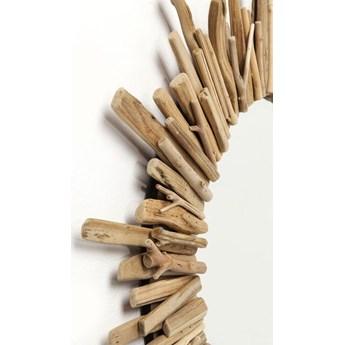 Lustro wiszące Legno ∅82 cm drewniane