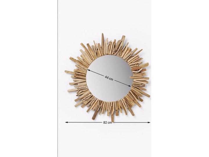 Lustro wiszące Legno ∅82 cm drewniane Kolor Złoty Ścienne Lustro z ramą Okrągłe Nieregularne Pomieszczenie Sypialnia