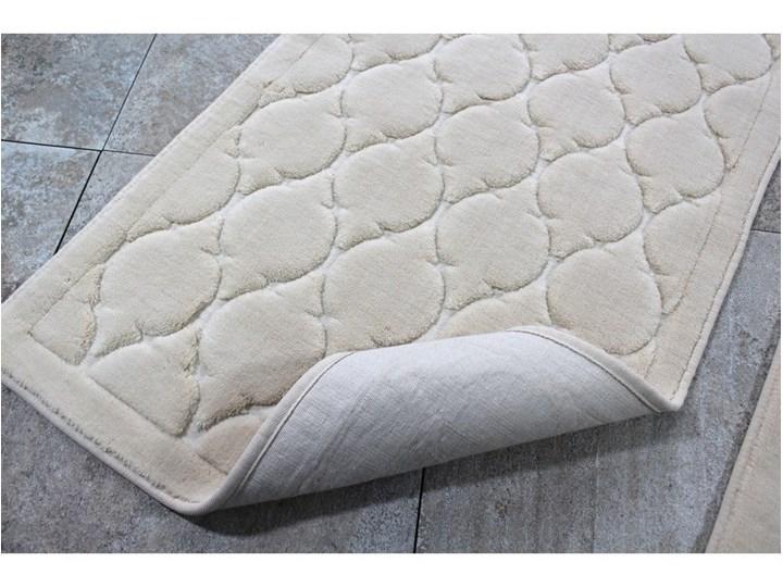 Zestaw 2 dywaników łazienkowych Dante Kategoria Dywaniki łazienkowe Prostokątny 60x100 cm 50x60 cm Kolor Biały