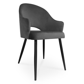 Bettso krzesło GODA / ciemny szary / noga czarna / BL14