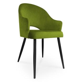 Bettso krzesło GODA / oliwkowy / noga czarna / BL75