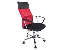 Krzesło biurowe fotel gamingowy ekoskóra obrotowy do biurka L406B czarno-czerwone