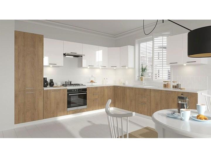 Kuchenna narożna szafka zlewozmywakowa dąb miodowy - Limo 16X Szafka narożna Drewno Kolor Biały