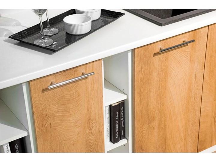 Kuchenna narożna szafka zlewozmywakowa dąb miodowy - Limo 16X Szafka narożna Kategoria Szafki kuchenne Drewno Kolor Biały