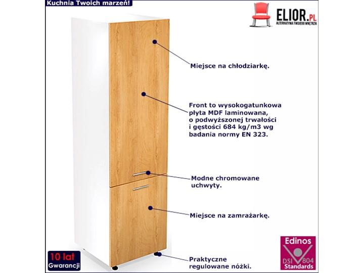 Kuchenna szafka do zabudowy lodówki dąb miodowy - Limo 14X Drewno Kategoria Szafki kuchenne