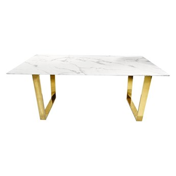 Stół MADERA GLAMUR Marmur Gold 160 x 80
