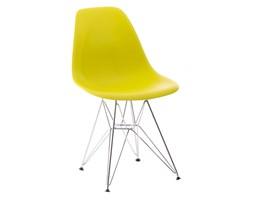 Krzesło P016 PP dark olive, chromowane nogi DK-24210 + Transport juz od 8,90 zł