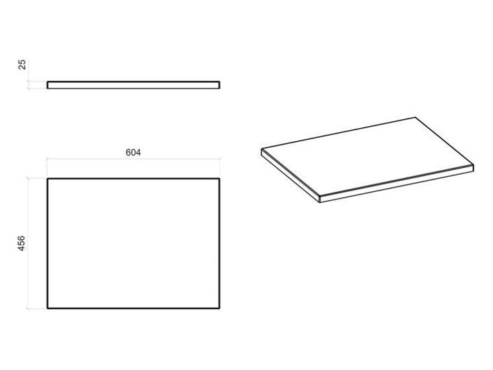 Prostokątny blat łazienkowy - Malta 10X Dąb 60 cm Kategoria Blaty pod umywalkę