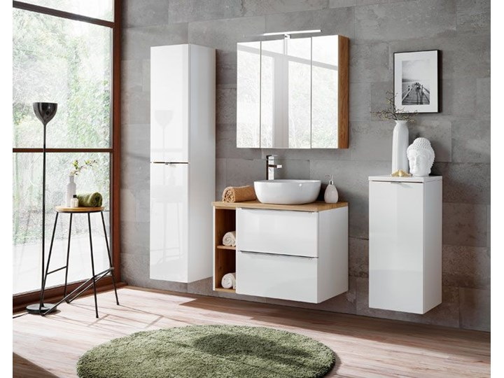 Prostokątny blat łazienkowy - Malta 10X Dąb 60 cm Kategoria Blaty pod umywalkę Kolor Beżowy