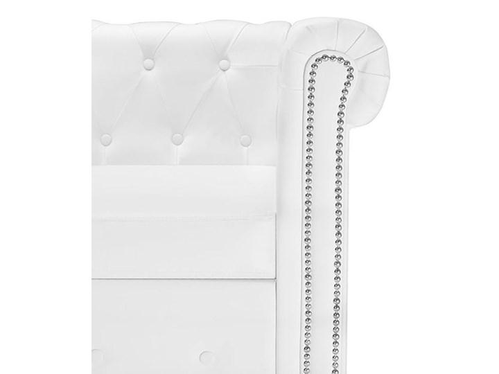 Biały narożnik z leżanką w stylu Chesterfield, lewostronny - Charlotte 4Q Strona Lewostronne Szerokość 165 cm Wysokość 73 cm Szerokość 200 cm Wysokość 44 cm Szerokość 140 cm Boki Z bokami