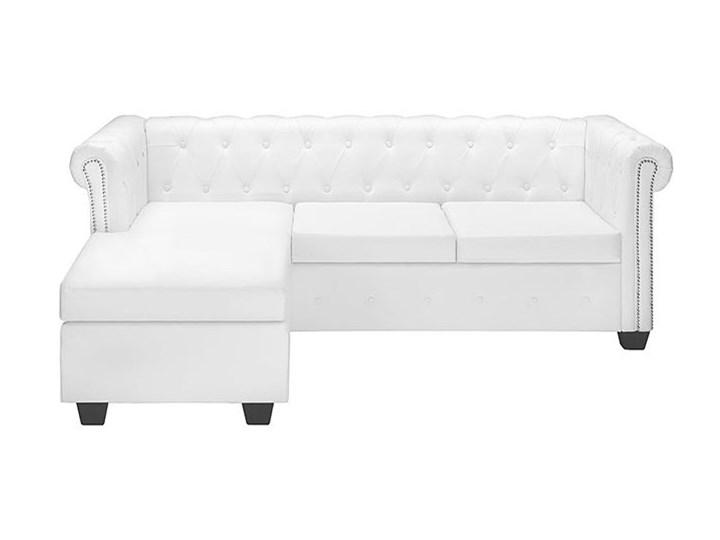 Biały narożnik z leżanką w stylu Chesterfield, lewostronny - Charlotte 4Q Szerokość 140 cm Szerokość 200 cm Wysokość 44 cm Wysokość 73 cm Szerokość 165 cm Typ Pikowane