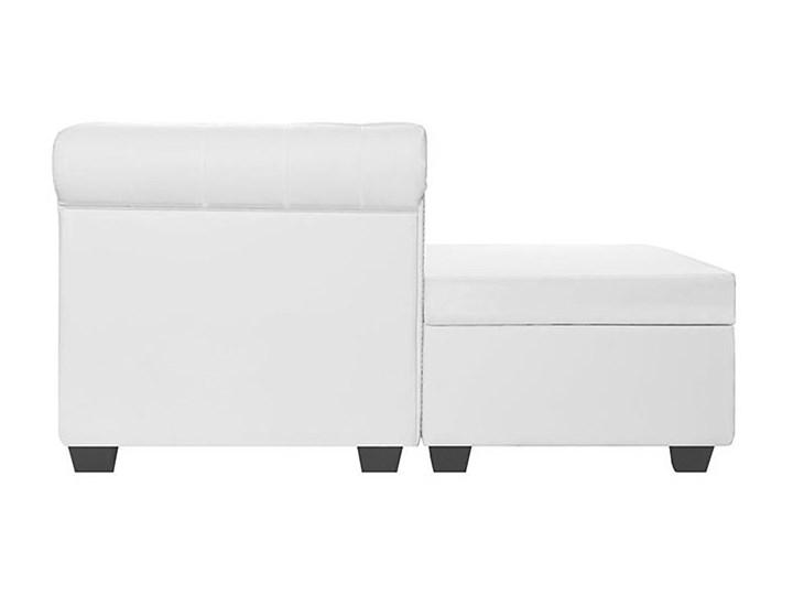 Biały narożnik z leżanką w stylu Chesterfield, lewostronny - Charlotte 4Q Wysokość 73 cm Szerokość 200 cm Wysokość 44 cm Szerokość 165 cm Szerokość 140 cm Kategoria Narożniki