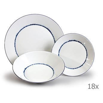 Komplet 18 talerzy porcelanowych Thun Tom