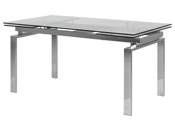 SELSEY Stół rozkładany Ediazo 160-240x85 cm szklany Kolor Szary Kategoria Stoły kuchenne