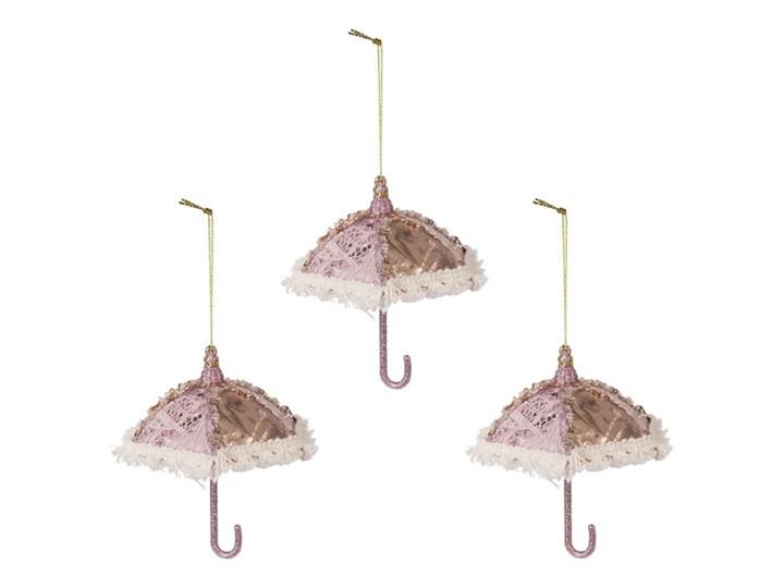 Komplet różowych zawieszek — parasolki Ferod 3 sztuki Kolor Biały