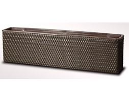 Kwietnik balkonowy technorattanowy 980x160x260mm z wkładem plastikowym czekolada
