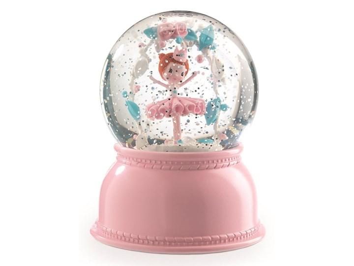 Rożowa lampka nocna w formie kuli śnieżnej Djeco Lila Lampa stojąca Kategoria Lampy dziecięce Kolor Różowy