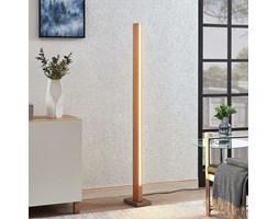 Drewniana lampa podłogowa belka LED Tamlin, buk