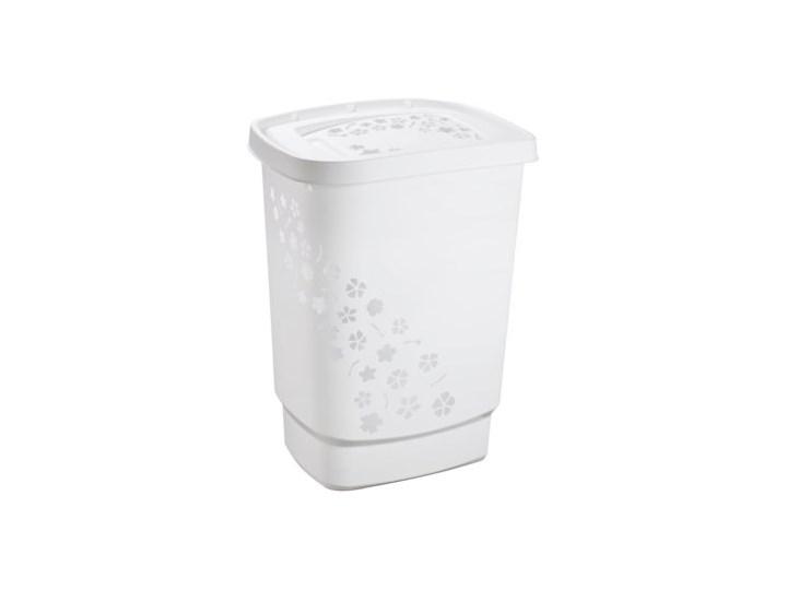 Kosz na pranie ROTHO Flowers 1756001100RP 55L Biały Tworzywo sztuczne Kategoria